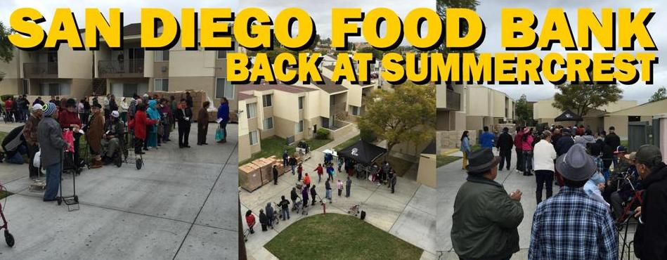 Summercrest & San Diego Food Bank...